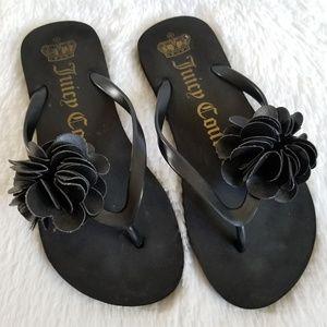 JUICY COUTURE | Black Flip Flops
